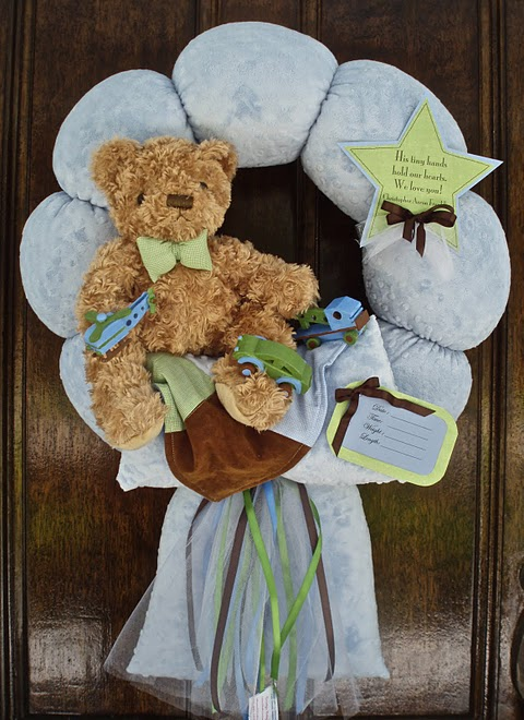 "38. Custom ""MOSAIC TRANSPORT"" BABY WREATH"