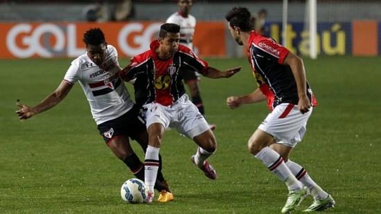 São Paulo e Joinville empataram em jogo com muitas oportunidades