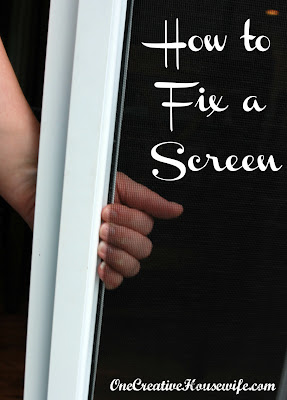 how to fix a rip in a screen