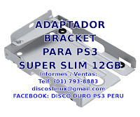 Adaptador Soporte Mounting Bracket Lima Peru PS3 Superslim 12GB Peru