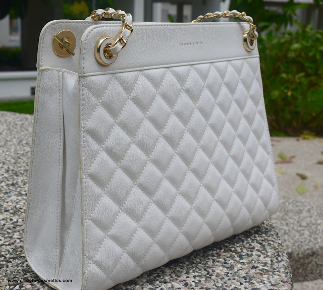 Charles & keith White handbag