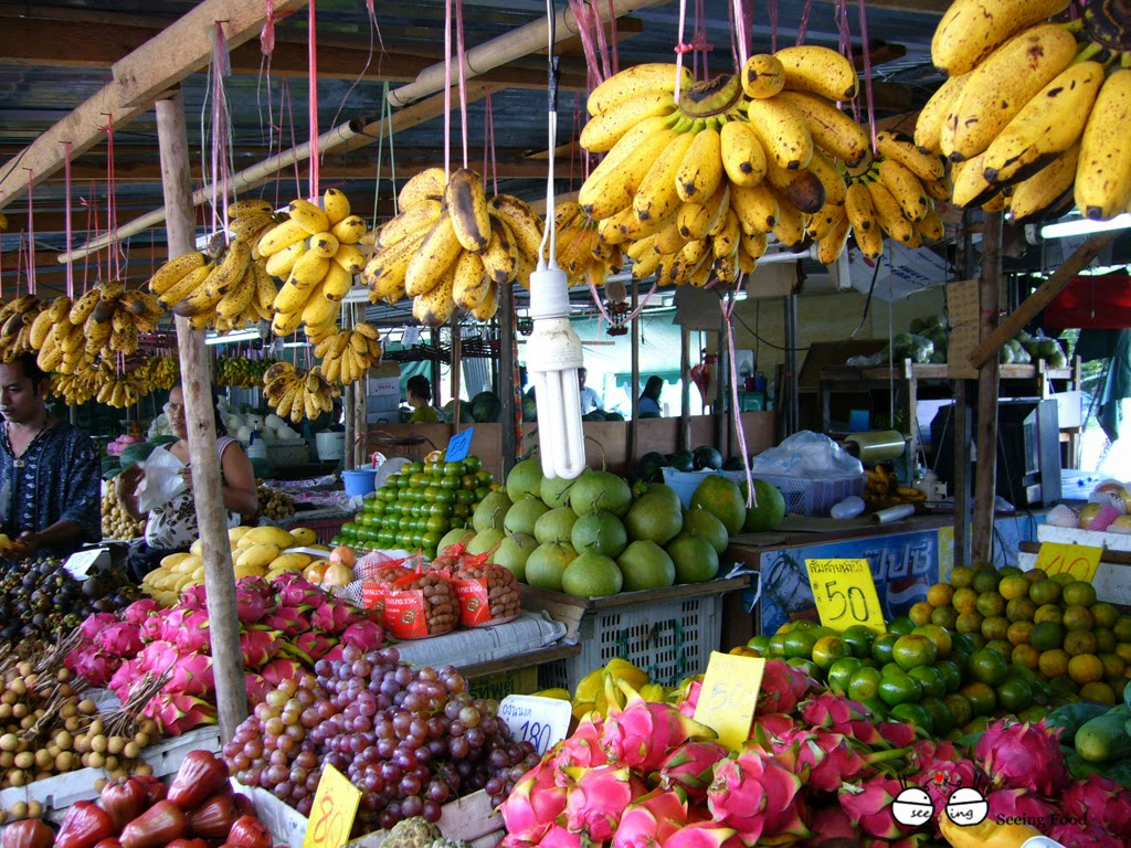 рынок фруктов пхукет