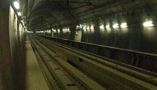 Seikan tunnel railway tracks