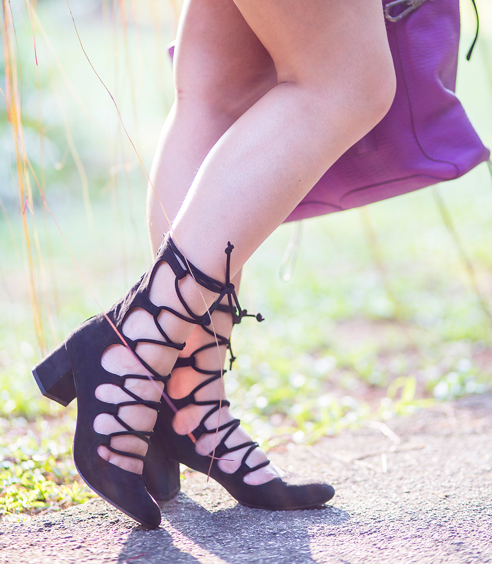 Crystal Phuong- Singapore Fashion Blog- Zara lace up sandals