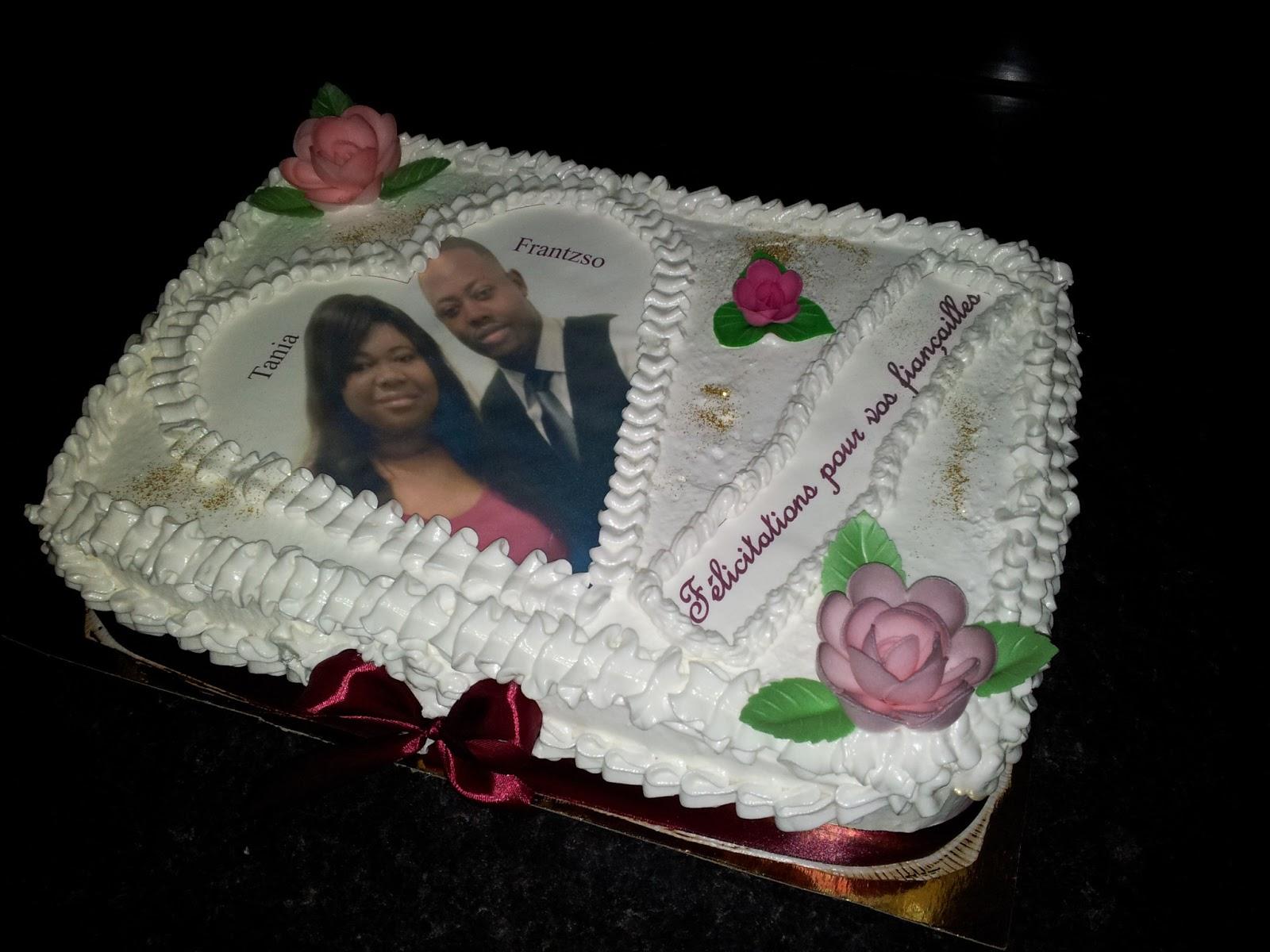 La Pâtisserie de Brunette: Gâteau de fiançailles personnalisé