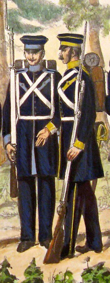 Żołnierze 14. i 15 pułku piechoty. Źródło wizerunku WIKIPEDIA.