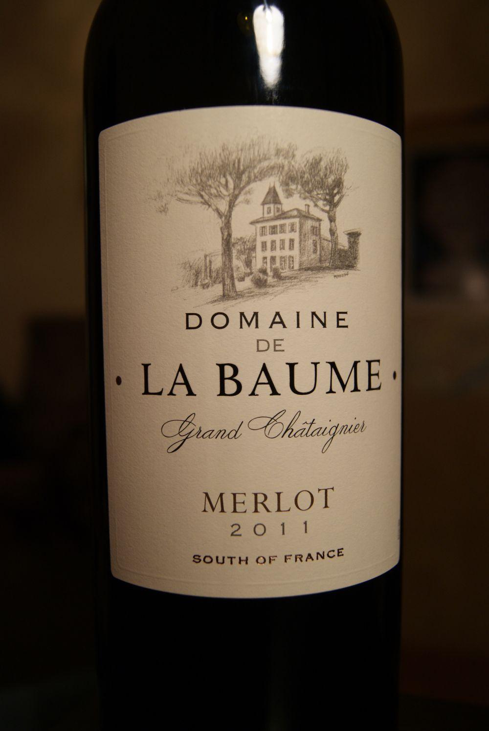 Pora na wino domaine de la baume grand chataignier merlot - Domaine de la baume ...