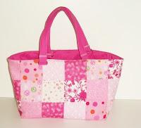 pink springtime tote bag