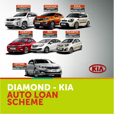 You have arrived promos in nigeria by gloria diamond bank for Kia motors finance rates