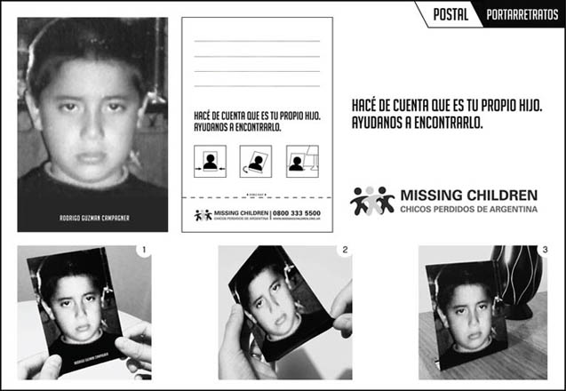 """Portarretratos"", postal para Missing Children"