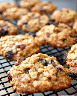 ... always room for dessert!: Thick and chewy oatmeal raisin cookies
