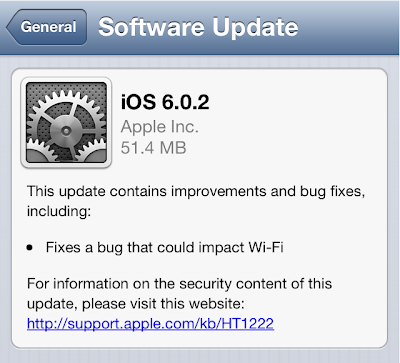 Apple iOS 6.0.2 IPSW Firmware