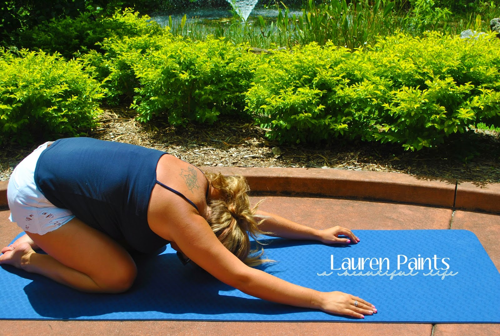 Child's Pose #EverybodyYOGAchallenge hosted by Lauren Paints