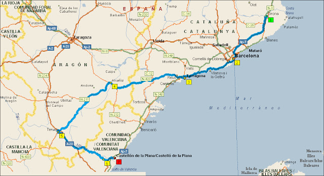 QUE TAL UNA SEGUNDA VUELTA A ESPAÑA EN VESPINO 1%C2%AA+Girona-Castell%C3%B3n