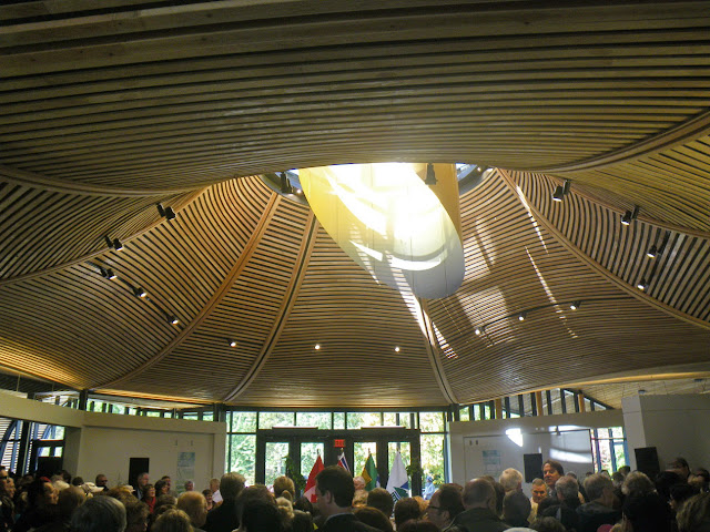 Opening Ceremony - Atrium of Vandusen Visitor Centre, Oct. 23th, 2011