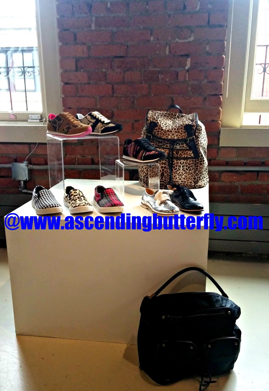urban footwear looks and animal print backpack