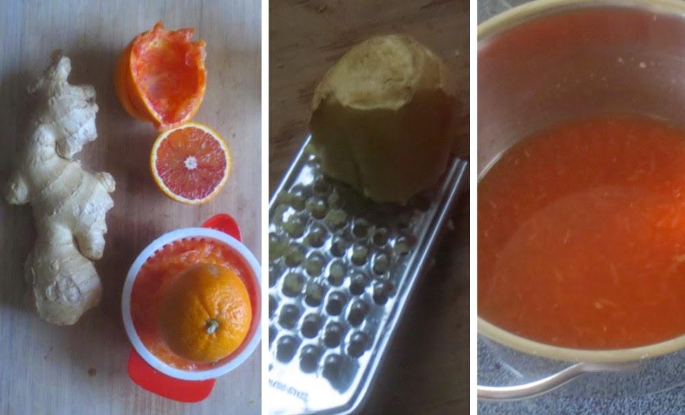 Zubereitung Blutorangen-Ingwer-Konfitüre, Rezept Blutorangen-Ingwer-Gelee