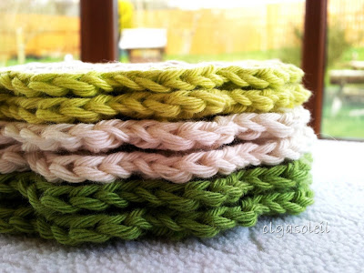 Pistachio Cotton Coasters 2