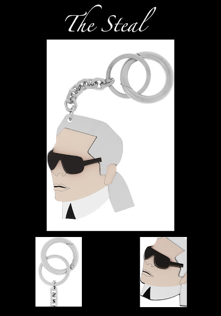 The Steal Karl Lagerfeld key chain 80% off at Net-a-Porter.com