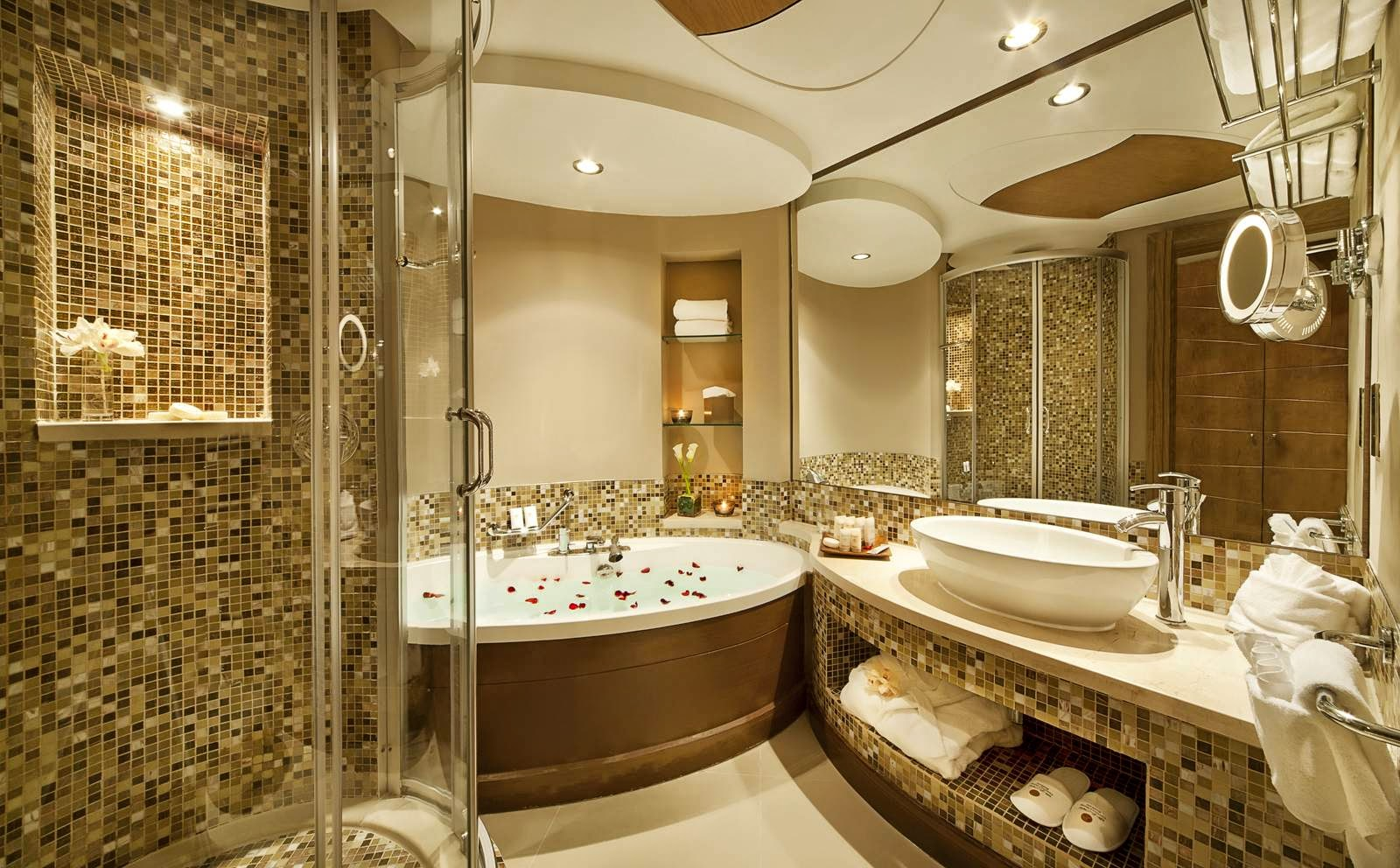 Salle de bains de luxe design for 5 star bathroom designs