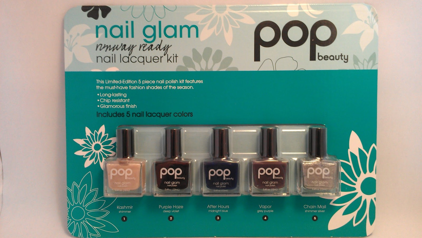 rainysunraynails: Pop Beauty Nail Glam kit from Costco Swatches