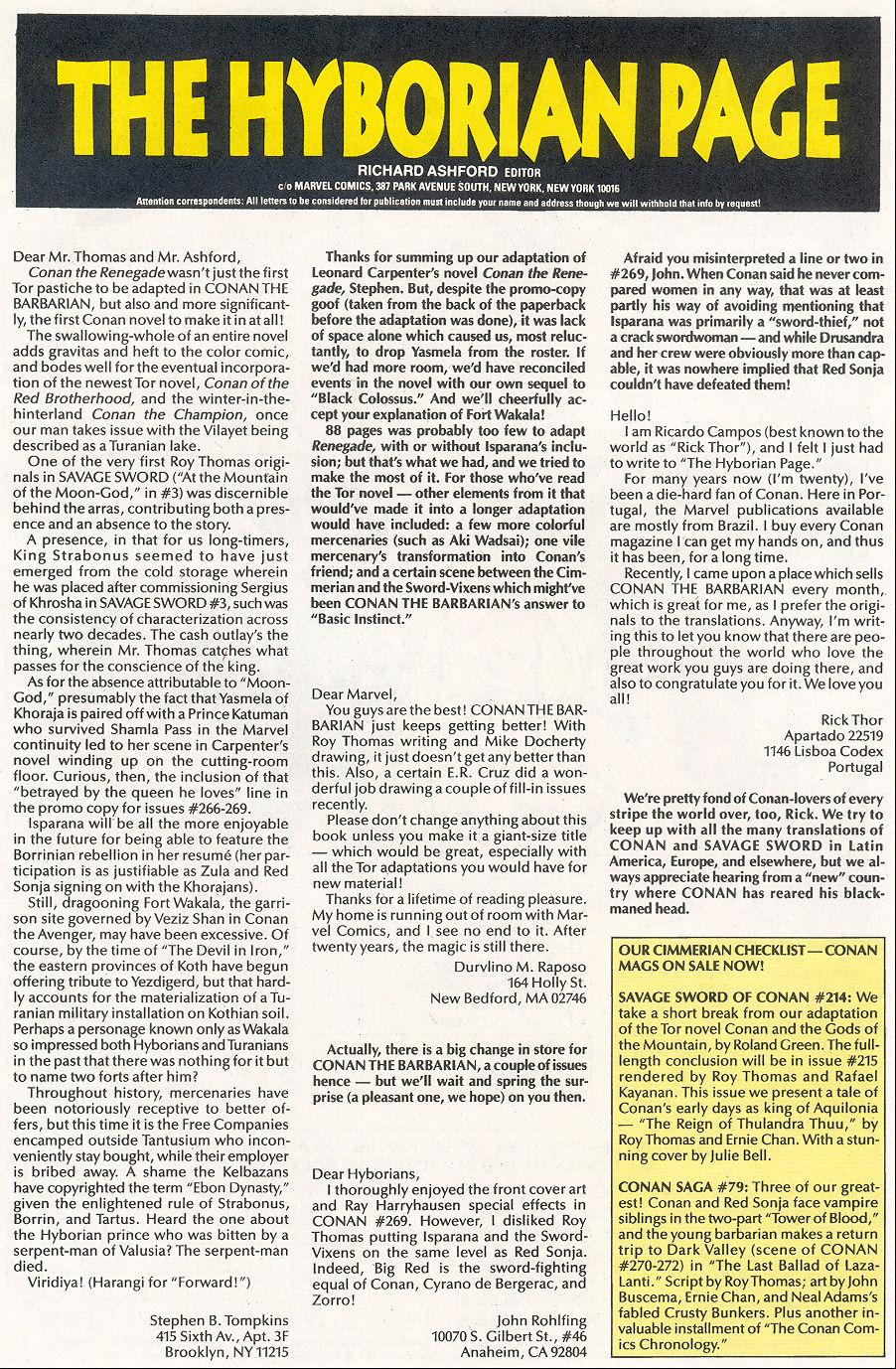 Conan the Barbarian (1970) Issue #273 #285 - English 24