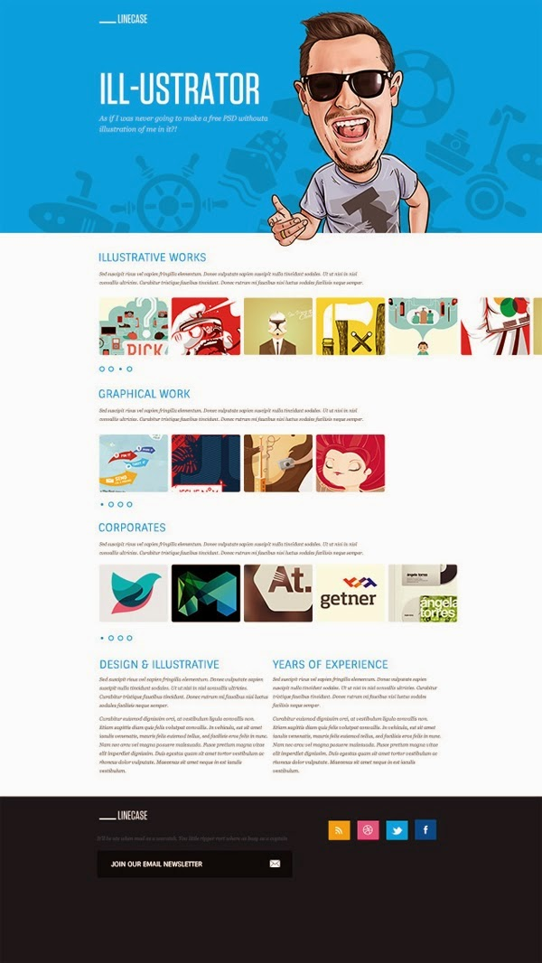 Bright Website template