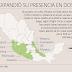 En solo 2 años el CJNG duplico su presencia en el pais y se independizó del Cartel de Sinaloa