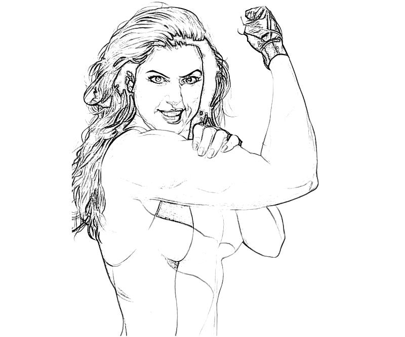 Printable Marvel Vs Capcom She Hulk Skill Coloring Pages