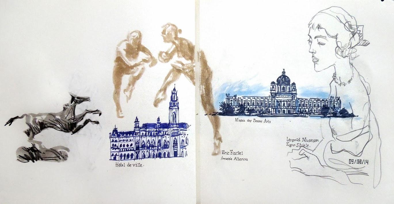 alex bochard croquis carnet voyage Vienne Autriche