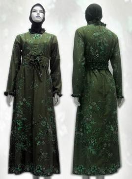 model-baju+batik+wanita+terbaru+muslim+terusan