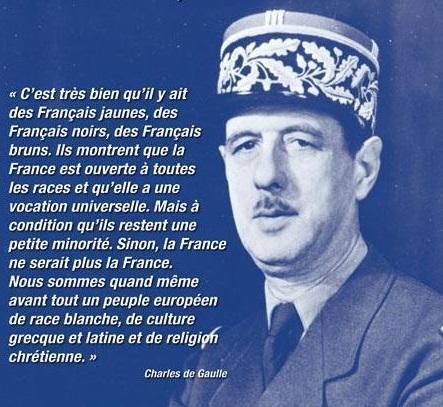 France de race blanche : les politiques frappés d'amnésie historique  dans Culture de%2Bgaulle