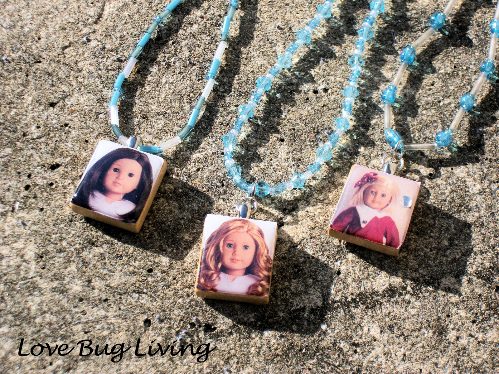 Love bug living american girl scrabble tile pendant necklace american girl scrabble tile pendant necklace aloadofball Image collections