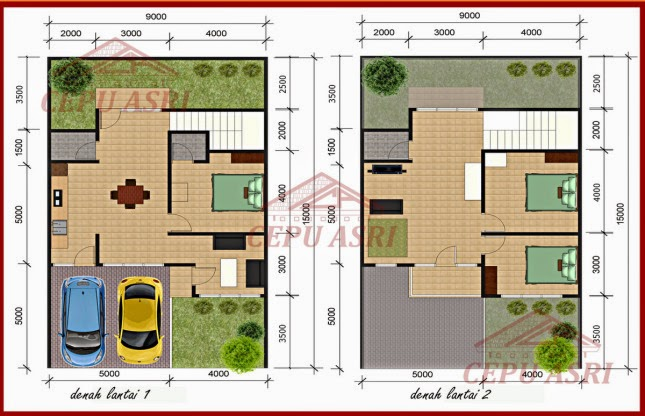 rumah type 70 120 2 lantai cepu asri
