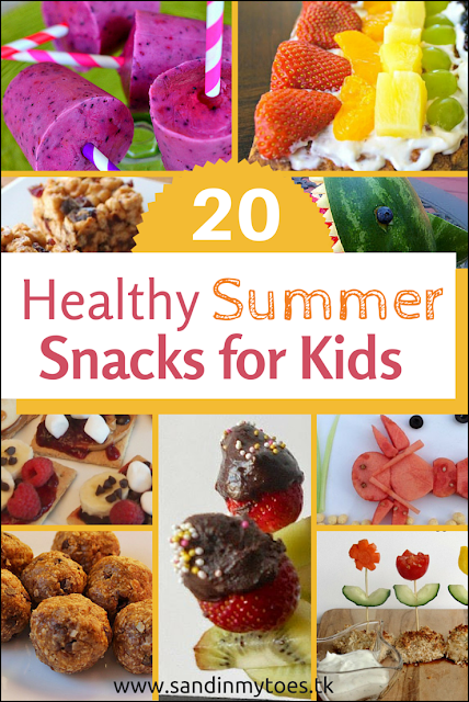 Twenty recipes for healthy snacks to make for kids during the summer holidays!