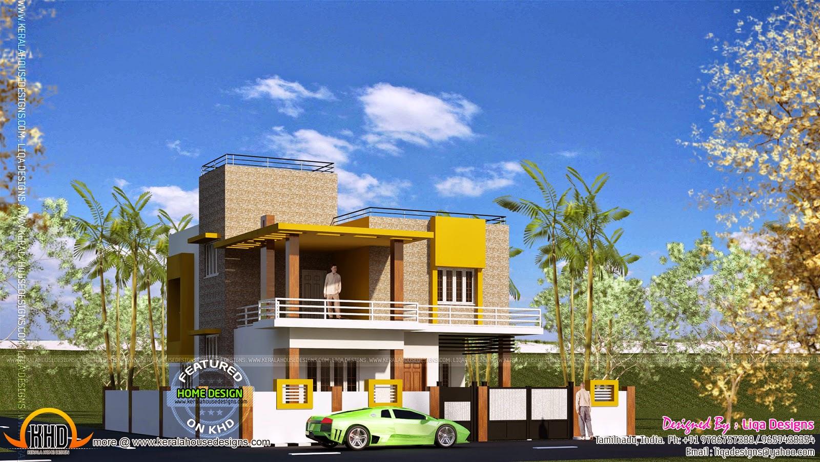 South indian home elevation designs joy studio design for South indian home designs and plans