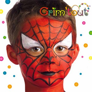 kids parties imagine parteas spiderman facepaint tutorial. Black Bedroom Furniture Sets. Home Design Ideas