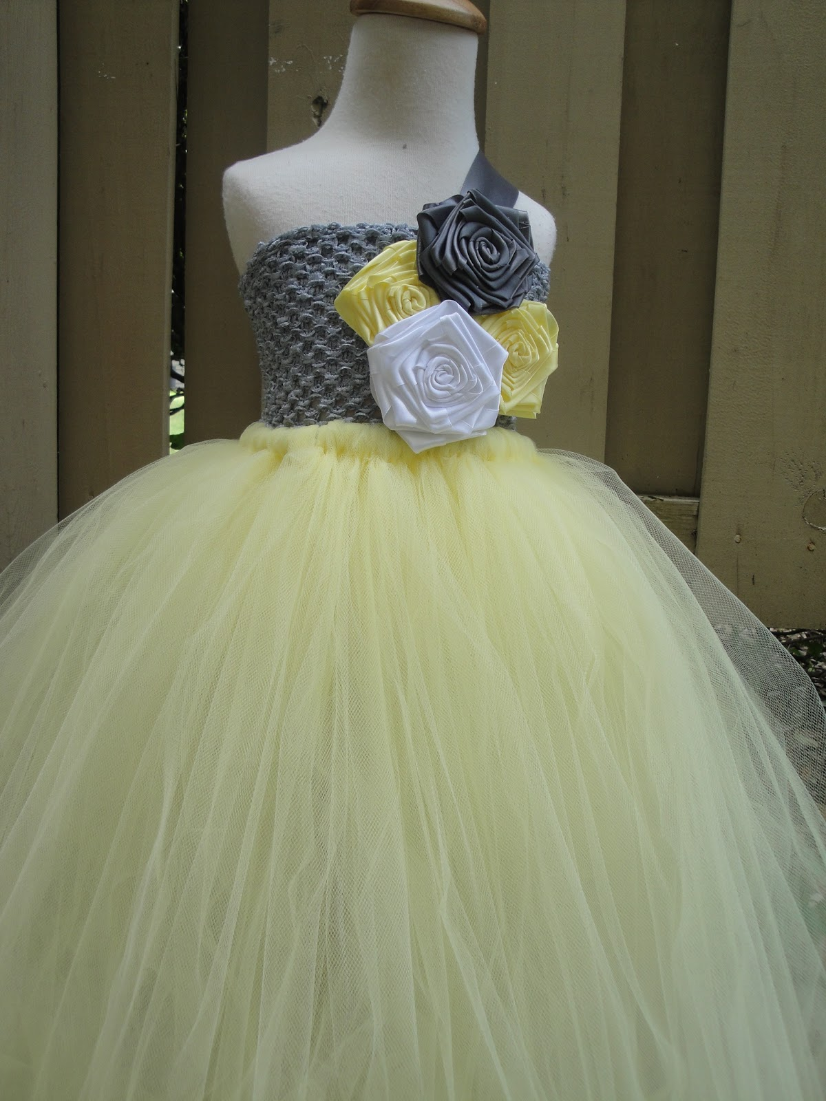Yellow And Grey Flower Girl Tutu Dress Flower Girl Tutu Dresses