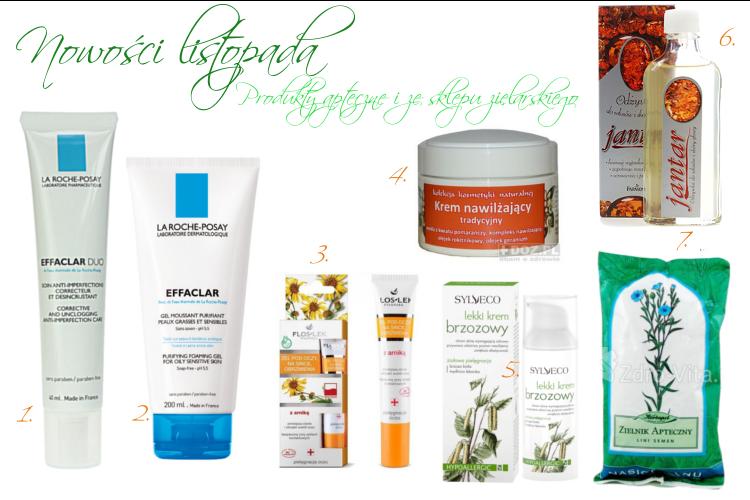 Produkty apteczne i ze sklepu zielarskiego