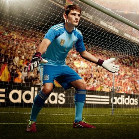 equipación portero selección española de fútbol Mundial Brasil 2014 Adidas