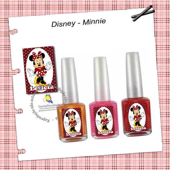Adesivo para esmalte Minnie
