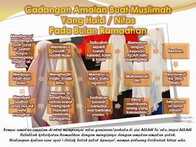 perkara yang boleh dilakukan ketika datang haid di bulan Ramadhan
