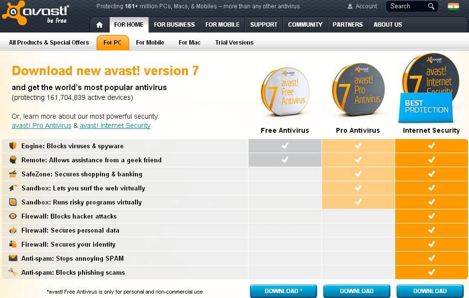 Avast 7 antivirus software