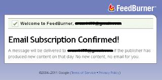 Konfirmasi berlangganan via email