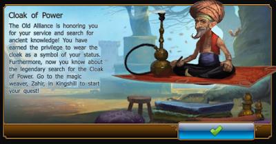 Drakensang online cloak of power