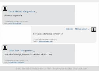 Source Code Buku Tamu Website Cantik dengan PHP MySQL Lengkap