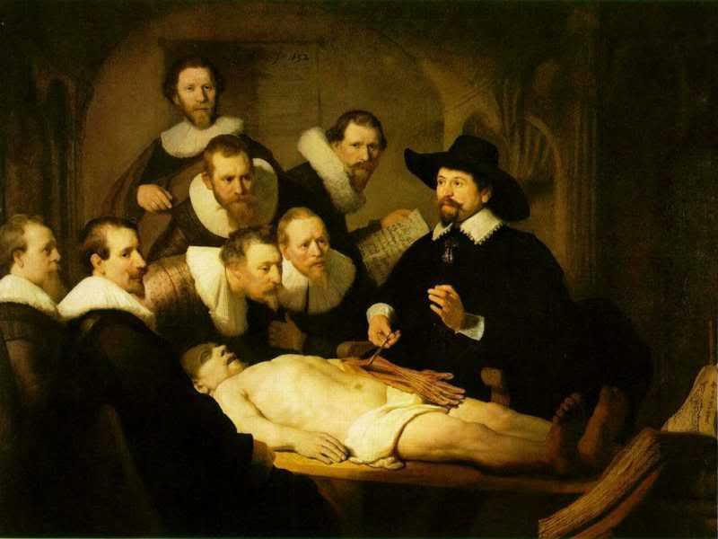 leccion de anatomia del doctor tulp
