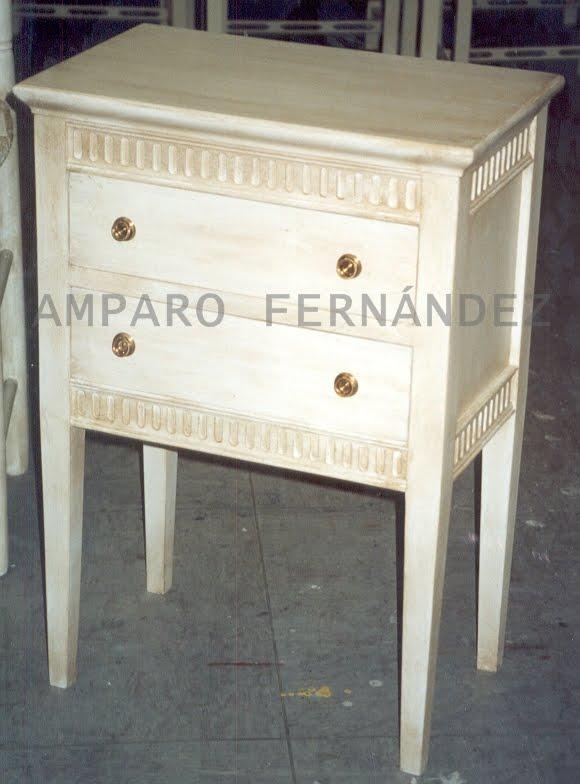 Amparo fern ndez muebles - Mesillas blancas segunda mano ...