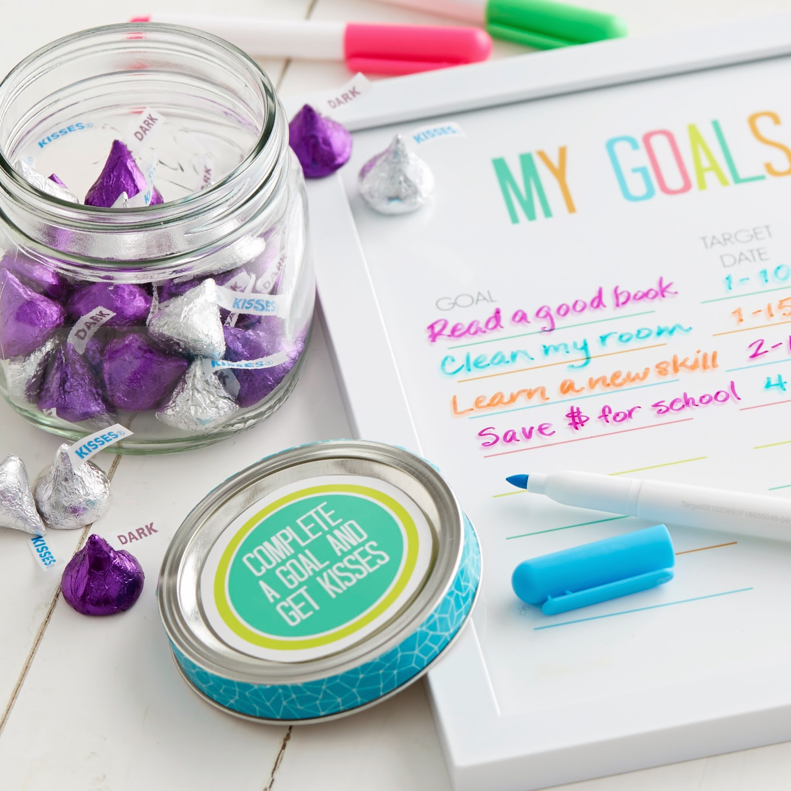 Dry Erasable Goal Chart with printable