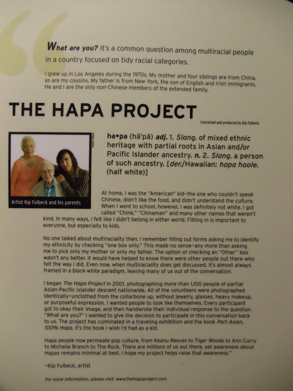 hapa project Reddit is also anonymous so you can be yourself, with your reddit profile and persona disconnected from your real-world identity  a hapa community for multiracial.